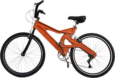 Imagem Bike Reciclada da Água Rcha Branca