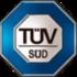 Logo azul da TUV-SUD