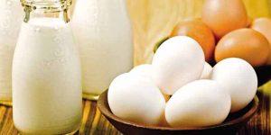 Leite e ovos ajudam no crescimento de bebês