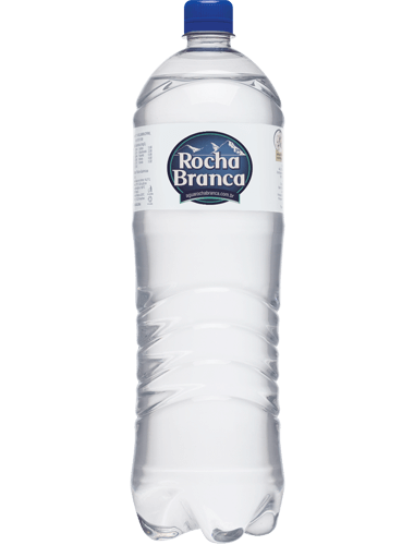 Garrafa de 1 litro de água mineral Rocha Branca