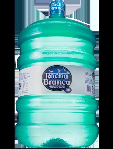 Galão de 20 litros de água mineral Rocha Branca