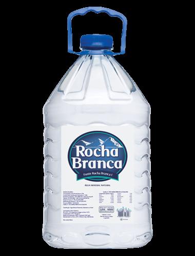 Galão de 5 Litros descartavel de água mineral Rocha Branca